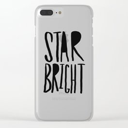 Star Bright Clear iPhone Case