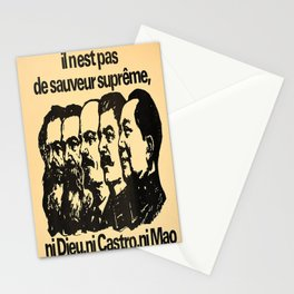 Werbeplakat ni dieu ni castro ni mao il nest Stationery Cards
