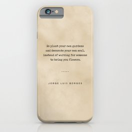 Jorge Luis Borges Quote 03 - Typewriter Quote on Old Paper - Minimalist Literary Print iPhone Case