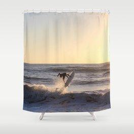 Against the Sun Shower Curtain