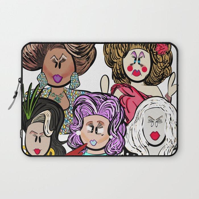 Collage of Queens, RuPaul's Drag Race Laptop Sleeve