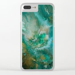 Dawning of a Galactic Planet Clear iPhone Case