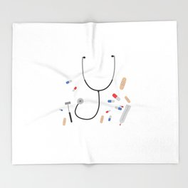 doctors equipment Throw Blanket