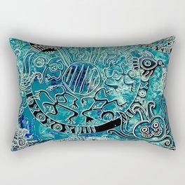 Aztec blues2 Rectangular Pillow