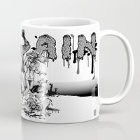 brain Mugs featuring Brain by Christian G. Marra