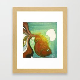 Heavy fish Framed Art Print