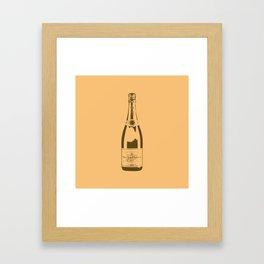 Veuve Champagne Bottle Pop Art Framed Art Print