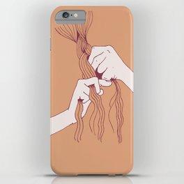 Braiding peach iPhone Case