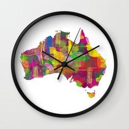 Australia Map 2 Wall Clock