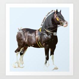 THE ORIGINAL WORK HORSE! Art Print