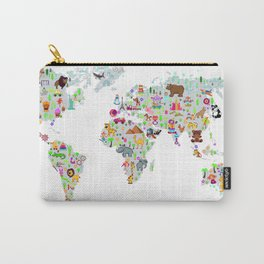 Kids World Map Carry-All Pouch