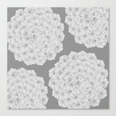 Flowerpower - Flower Balls On A Grey Background - #society6 Canvas Print
