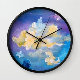 Colorful Cumulus Wall Clock