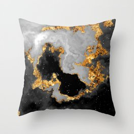 100 Starry Nebulas in Space Black and White 101 (Portrait) Throw Pillow