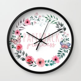 Paperback Princess - Pink Wall Clock