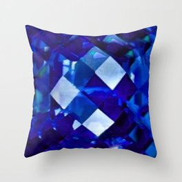 Blue Sapphire September Birthstone Gem Throw Pillow