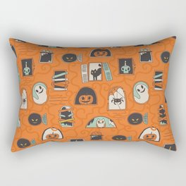 Halloween windows Rectangular Pillow