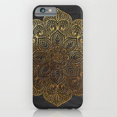 Wood Mandala - Gold iPhone 6 Slim Case
