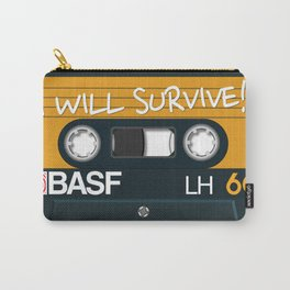 Vintage Audio Tape - BASF - I Will Survive! Carry-All Pouch