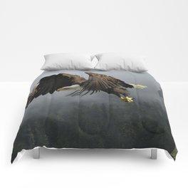 Vision Quest - Bald Eagle & Mists Comforters