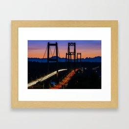 Sunset Crossing Framed Art Print