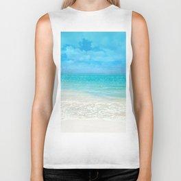 Beach, Tropical Paradise Biker Tank