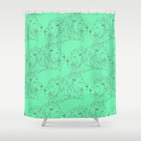 lions Shower Curtains featuring Lions by LIRO