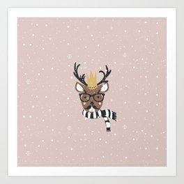 Holiday Deer Illustration Art Print