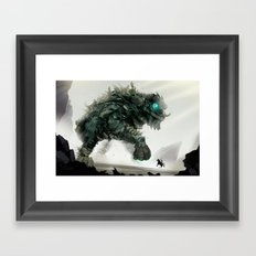 Looming challenge Framed Art Print