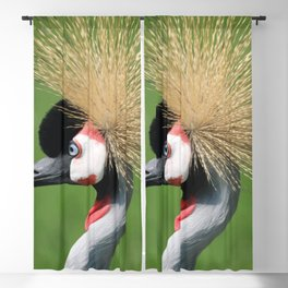 Crowned Crane Head Illustration Graphic Blackout Curtain