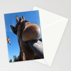 Giraffe lick Stationery Cards