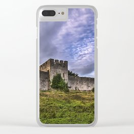 Chepstow Castle Walls Clear iPhone Case