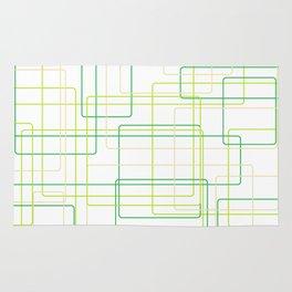Green Line Pattern Rug