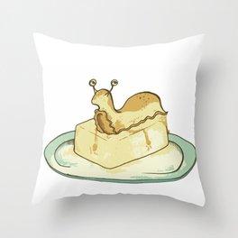 Slug Butter Throw Pillow