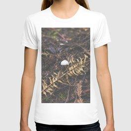 White Mushroom on Forest Floor T-shirt