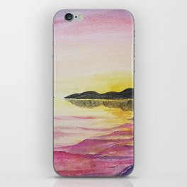 French Rose Pink Sunset iPhone Skin