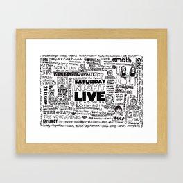 A Visual Representation of Saturday Night Live (Season 39) Framed Art Print