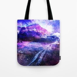 Abstract Mountain Landscape Tote Bag