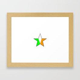 flag of ireland 11 -ireland,eire,airlann,irish,gaelic,eriu,celtic,dublin,belfast,joyce,beckett Framed Art Print