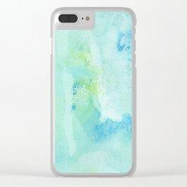 Transparent Blue Clear iPhone Case