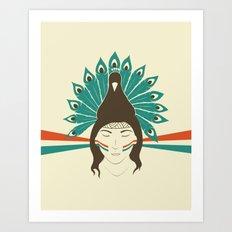 The princess and the peacock Art Print