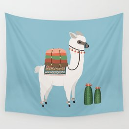 Alpaca & Cactus Wall Tapestry