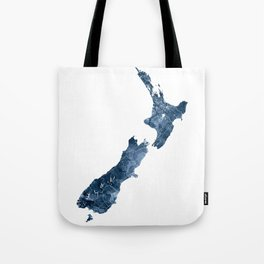 New Zealand Map Blue Watercolor by Zouzounio Art Tote Bag