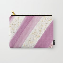 Artsy geometric pink rose gold watercolor gold splatters Carry-All Pouch