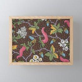Floral Print, 1800s Framed Mini Art Print
