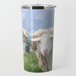 Moutons en auvergne FRANCE Cantal Travel Mug