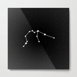 Aquarius Star Sign Night Sky Metal Print