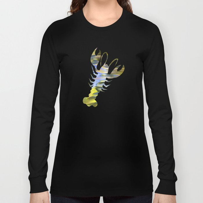 Harvest Gold Mosaic Abstract Art Long Sleeve T-shirt
