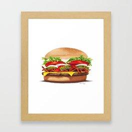 Bacon Cheeseburger by dana alfonso Framed Art Print