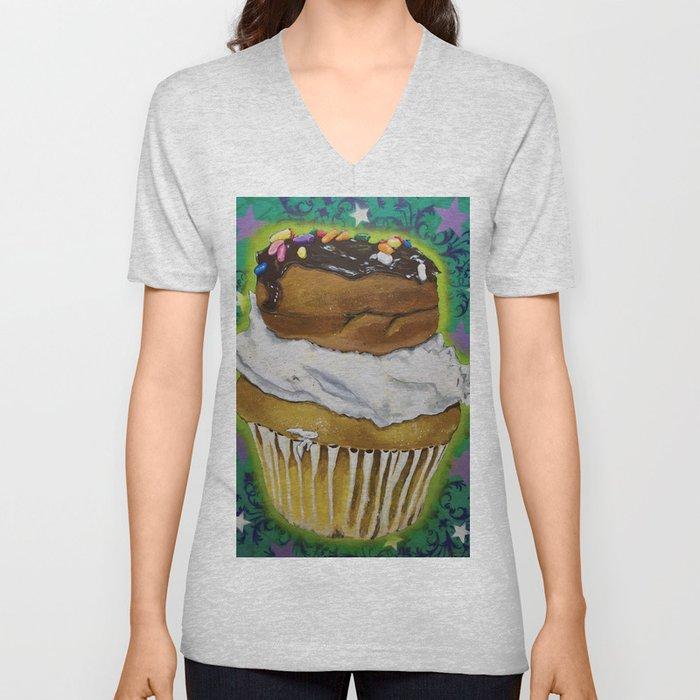 DonutCupcake Unisex V-Neck